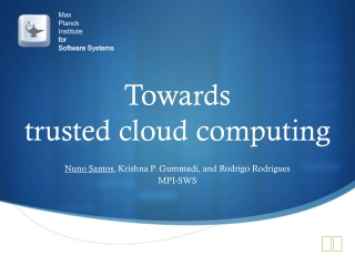Cloud Computing: Why, How, Where and When