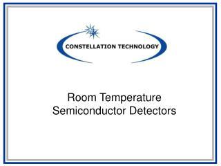 Room Temperature Semiconductor Detectors