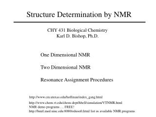 Structure Determination by NMR