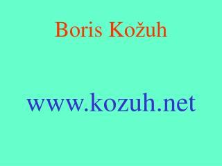 Boris Ko � uh