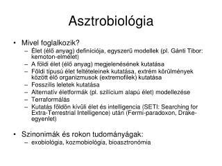 Asztrobiológia