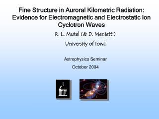 Astrophysics Seminar  October 2004