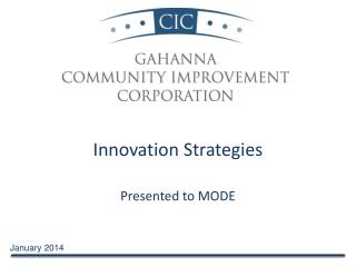 Innovation Strategies Presented to MODE