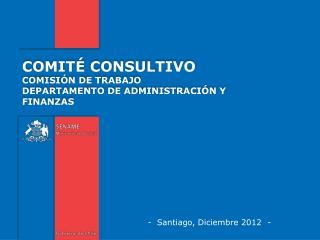 -  Santiago, Diciembre 2012  -