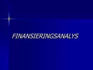FINANSIERINGSANALYS