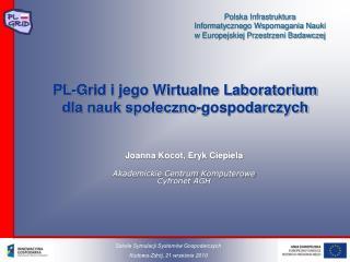 PL-Grid i jego Wirtualne Laboratorium dla nauk społeczno-gospodarczych