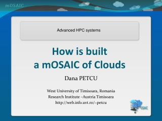 How is built  a mOSAIC of Clouds