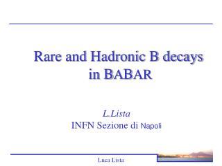 L.Lista INFN Sezione di  Napoli