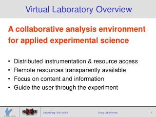 Virtual Laboratory Overview