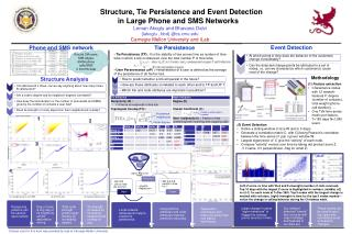 Structure, Tie Persistence and Event Detection                in Large Phone and SMS Networks