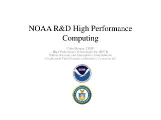 NOAA R&D High Performance Computing