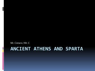 Ancient  athens  and  sparta