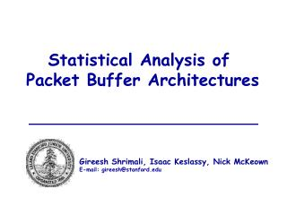 Statistical Analysis of  Packet Buffer Architectures
