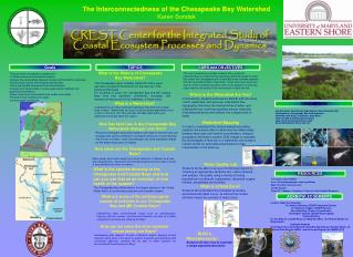 The Interconnectedness of the Chesapeake Bay Watershed Karen Sondak