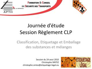Journée d'étude  Session Règlement CLP