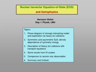 Nuclear Isovector Equation-of-State (EOS) and Astrophysics