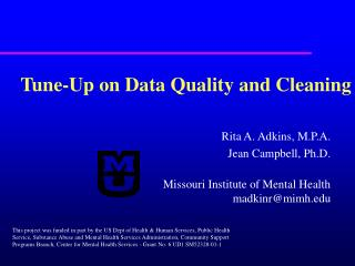 Tune-Up on Data Quality and Cleaning