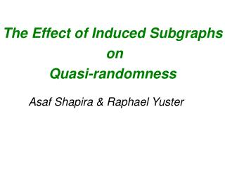 The Effect of Induced Subgraphs  on  Quasi-randomness