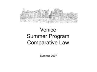 Venice  Summer Program Comparative Law