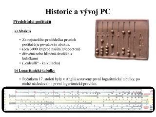 Historie a vývoj PC