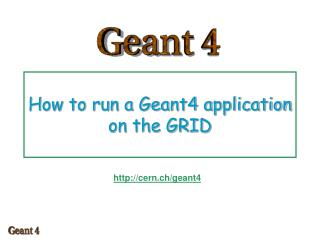 How to run a Geant4 application on the GRID