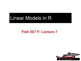 Linear Models in R