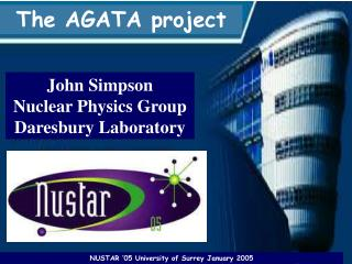 John Simpson Nuclear Physics Group Daresbury Laboratory