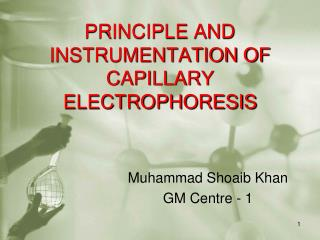 PRINCIPLE AND INSTRUMENTATION OF CAPILLARY ELECTROPHORESIS