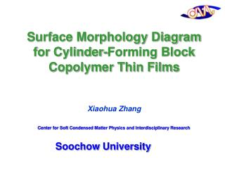 Surface Morphology Diagram for Cylinder-Forming Block Copolymer Thin Films Xiaohua Zhang