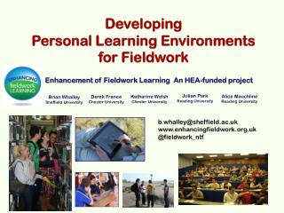 Developing  Personal Learning Environments  for Fieldwork