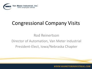 Congressional Company Visits