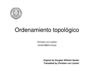 Ordenamiento topol�gico