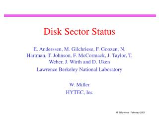 Disk Sector Status