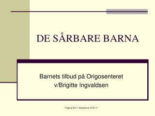 DE SÅRBARE BARNA