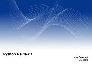 Python Review 1