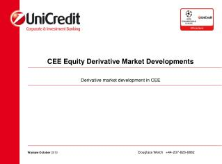 CEE Equity Derivative Market Developments