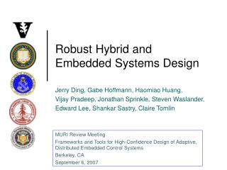 Robust Hybrid and Embedded Systems Design