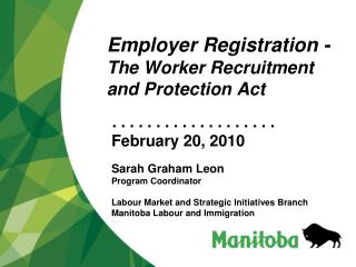 Employer Registration -  The Worker Recruitment and Protection Act