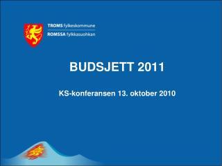 BUDSJETT 2011 KS-konferansen 13. oktober 2010