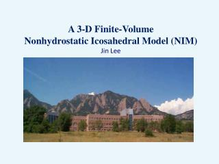 A 3-D Finite-Volume Nonhydrostatic Icosahedral Model (NIM) Jin Lee