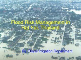 Flood Risk Management in Hat Yai, Thailand