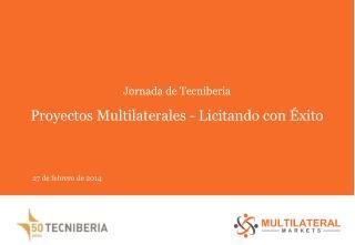 Jornada de Tecniberia Proyectos Multilaterales - Licitando con Éxito