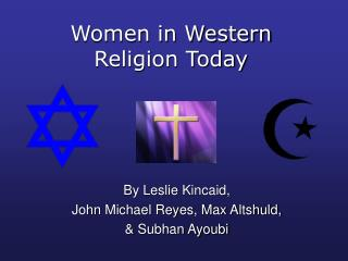 Women in Western Religion Today