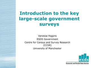 Introduction to the key large-scale government surveys