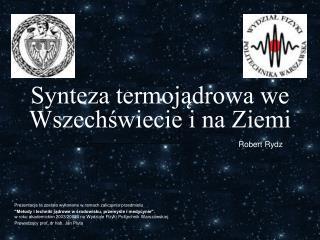 Synteza termojądrowa we Wszechświecie i na Ziemi