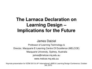 The Larnaca Declaration on Learning Design –  Implications for the Future