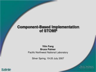 Component-Based Implementation of STOMP