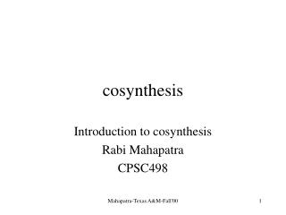 cosynthesis
