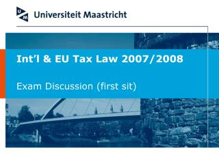 Int�l & EU Tax Law 2007/2008