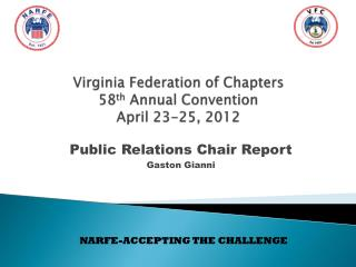 Virginia Federation of Chapters 58 th  Annual Convention April 23-25, 2012
